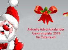 Aktuelle Adventskalender Gewinnspiele 2019 für Österreich