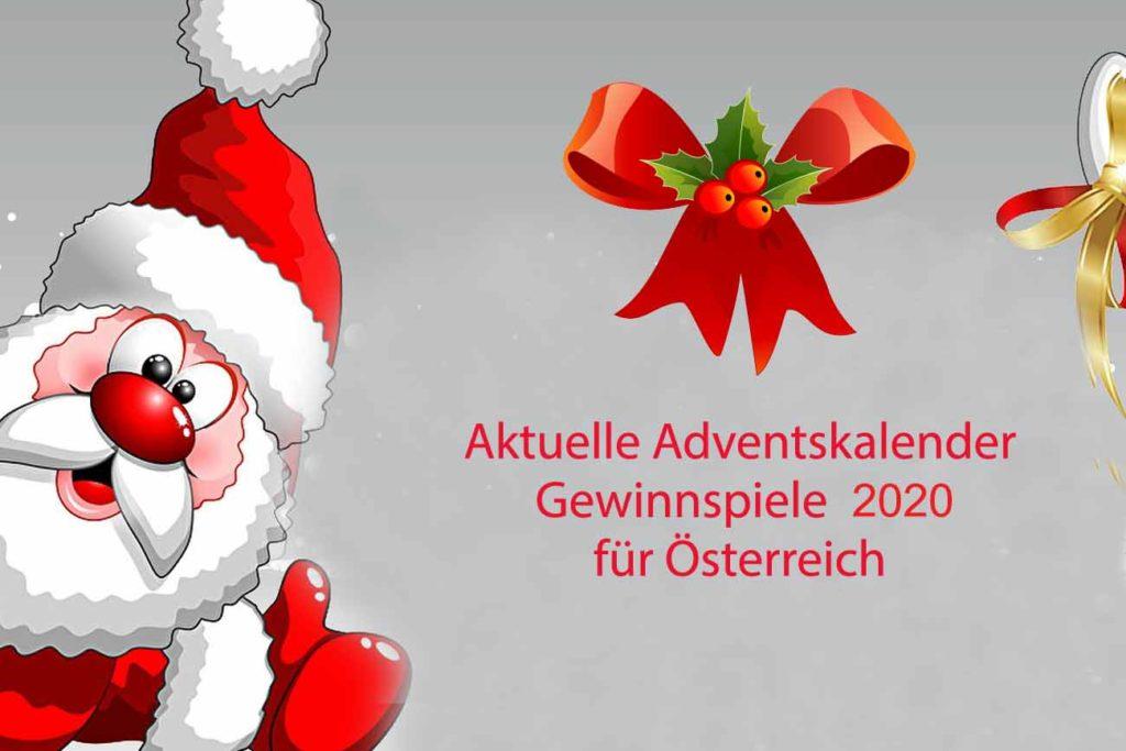 Aktuelle Adventskalender Gewinnspiele 2020 für Österreich